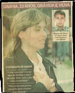 1998 - Daiana Zarur desabafo no enterro